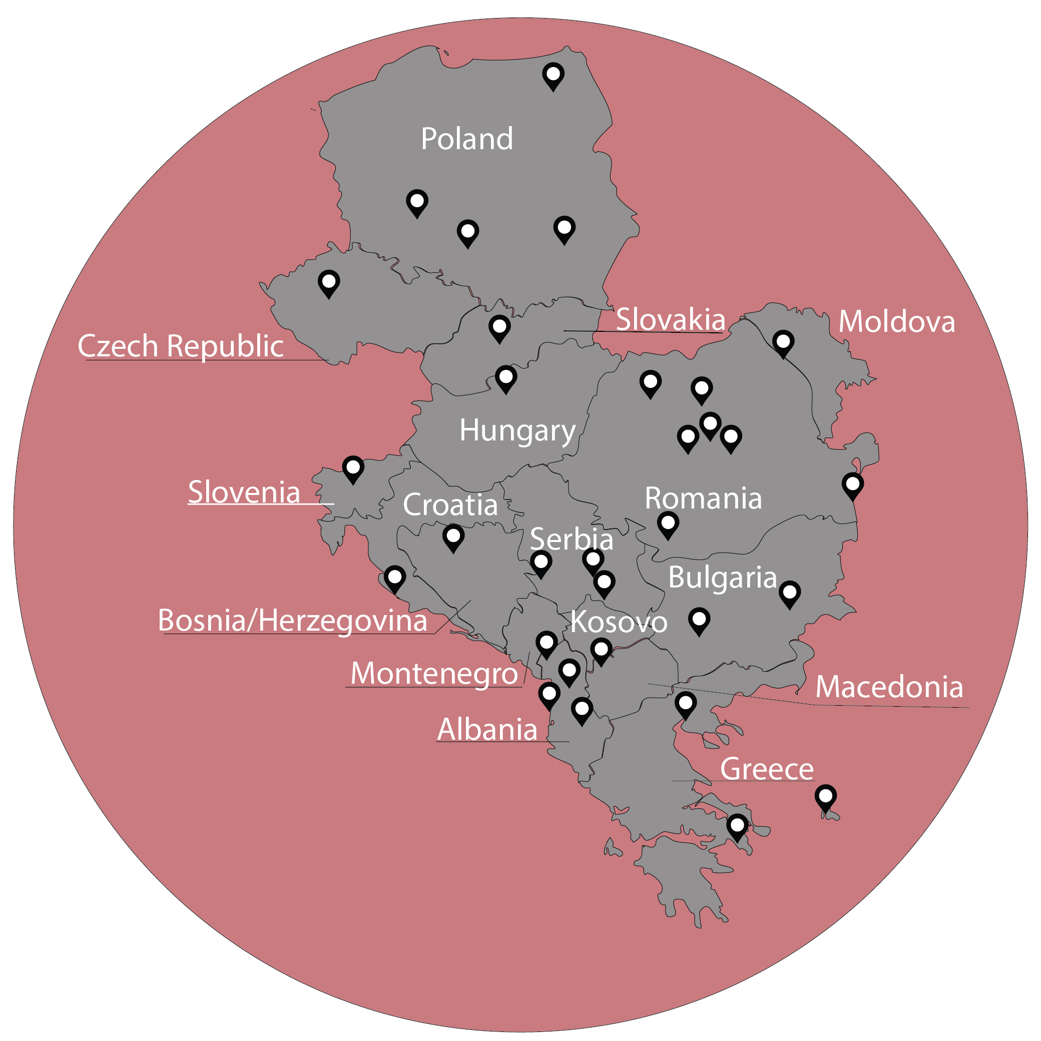 YWAM Central Europe locations